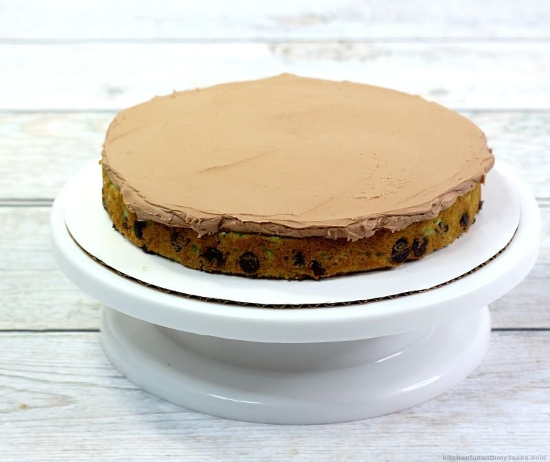 cake layer with frosting