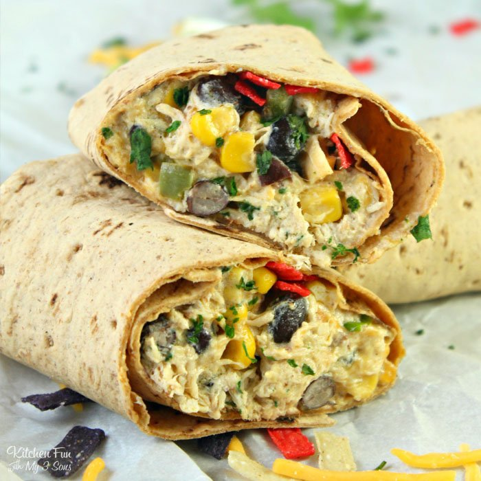 Southwest Chicken and Cream Cheese Wraps