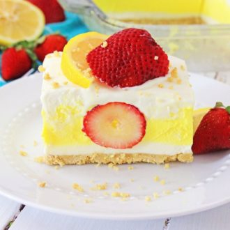Strawberry Lemon Icebox Dessert