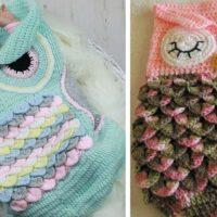 Crochet Owl Cocoon Blankets