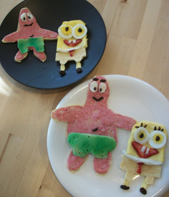 Sponge Bob and Patrick Pancakes and Eggs