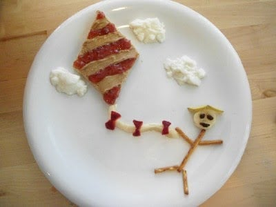 Peanut Butter and Jelly Kite lunch