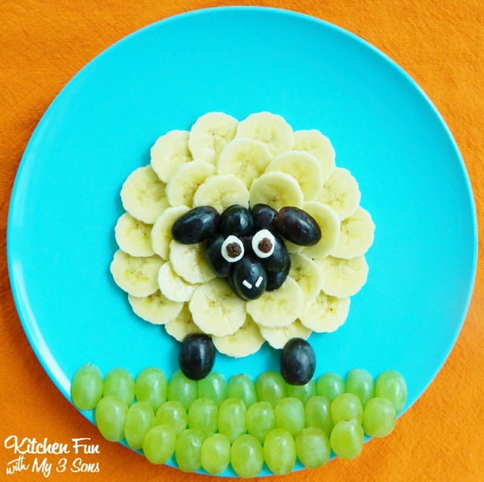 Sheep Fruit Snack for Kids