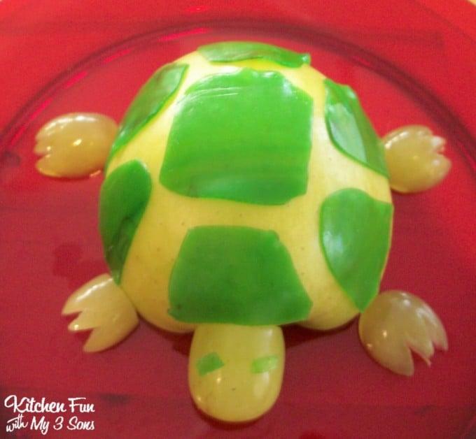 Turtle Apple Snack for Kids!