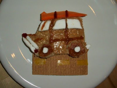 Woody Wagon Peanut Butter and Jelly Sandwich