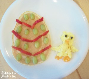 Easter Egg Pancakes with Baby Chick Eggs