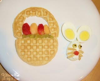 Waffle and Egg Easter Bunny Breakfast