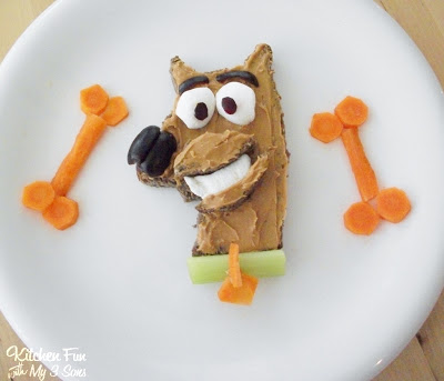 Peanut Butter and Jelly Scooby Doo Snack