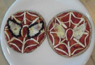 Mini Spider Man Pizzas!