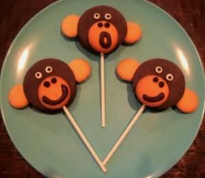 Monkey Moon Pie Pops