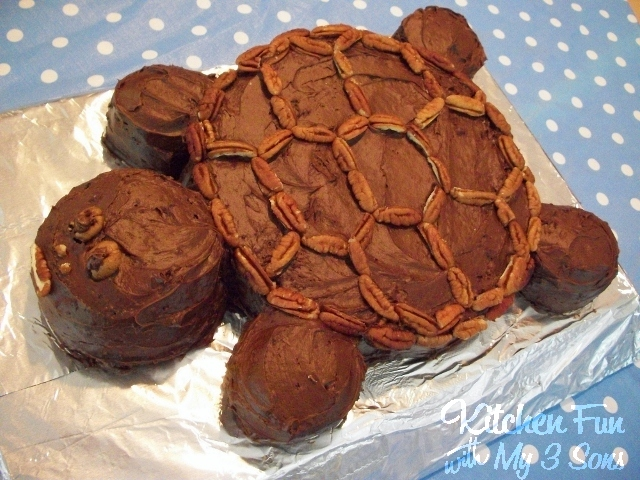 Easy Homemade Chocolate Turtle Cake: Kitchen Fun With My 3 Sons