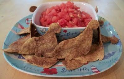 Fun Cinnamon Chips with Watermelon Salsa