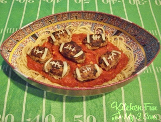 Spaghetti And Turkey Footballs Kitchen Fun With My 3 Sons