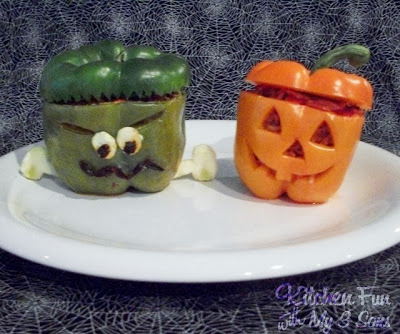 Spooky Stuffed Peppers
