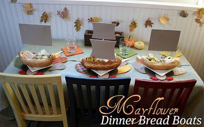 Mayflower Bread Boats