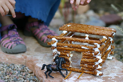 Log Cabin Made Out Of Pretzel Sticks