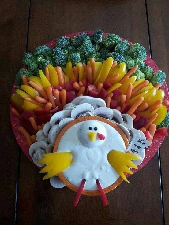 Thanksgiving Turkey Veggie Platter