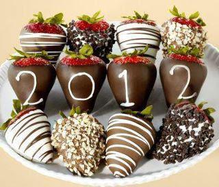 New Years Eve Chocolate Strawberries