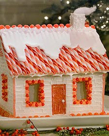 Christmas House made with sugar cubes