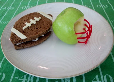 Quarter Back Snack Football S'mores and Apple Helmet