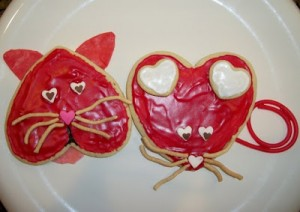 Cat and Mouse Valentine Cookies