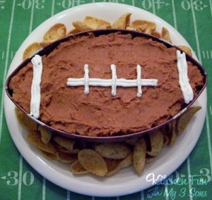 Down…Set…DIP! A 7 Layer Football Dip that is perfect for Super Bowl parties!