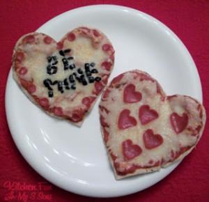 Valentine Heart Pita Pizzas