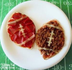 Football Pita Pizzas