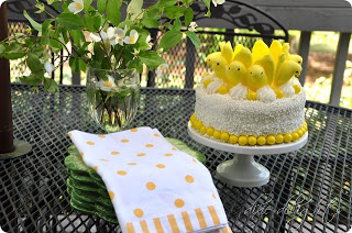Peeps Party Cake