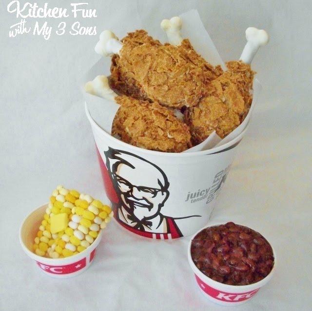 April Fools Day KFC Kentucky Fried Chicken Meal & Sides Dessert