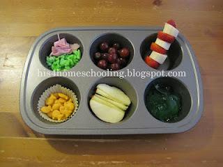 Dr. Seuss Muffin Tin Meal