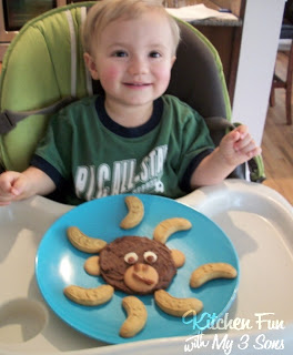 Healthy Monkey Chocolate Cookie Dough Dip with Banana Cookies!