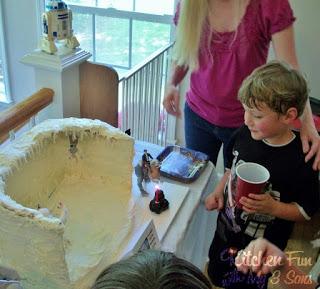 Planet Hoth Wampa Cake