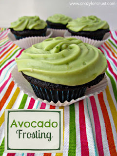Avocado Frosted Cupcakes