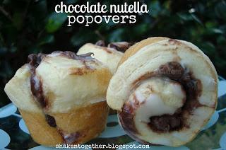 Chocolate Nutella Popovers