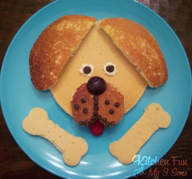 Puppy Pancakes...the kids will love this fun Dog Breakfast!