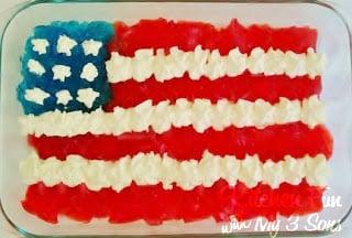 Sugar Free Flag Jello Dessert for July 4th!