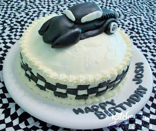 Hot Rod Birthday Cake