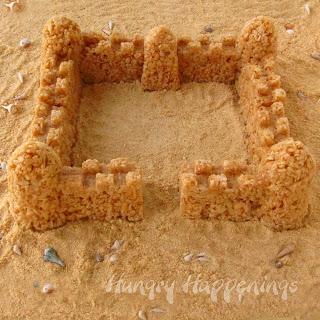 Rice Krispie Treats using Sand Molds