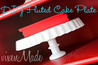 DIY Fluted Cake Stand