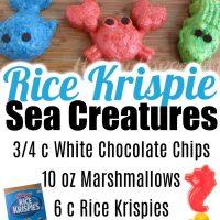Rice Krispie Sea Creatures
