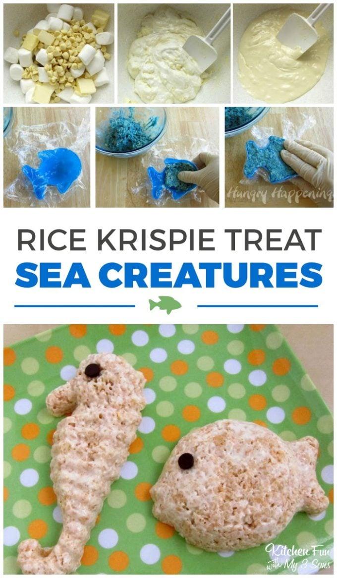 Rice Krispie Treat Sea Creatures