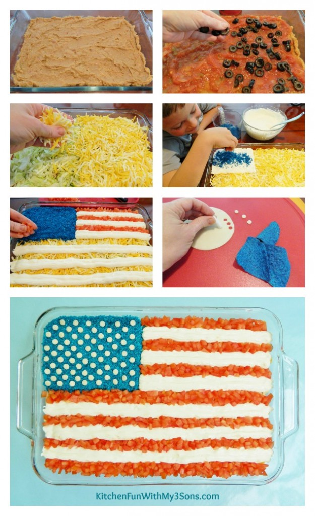 7 Layer Flag Patriotic Dip