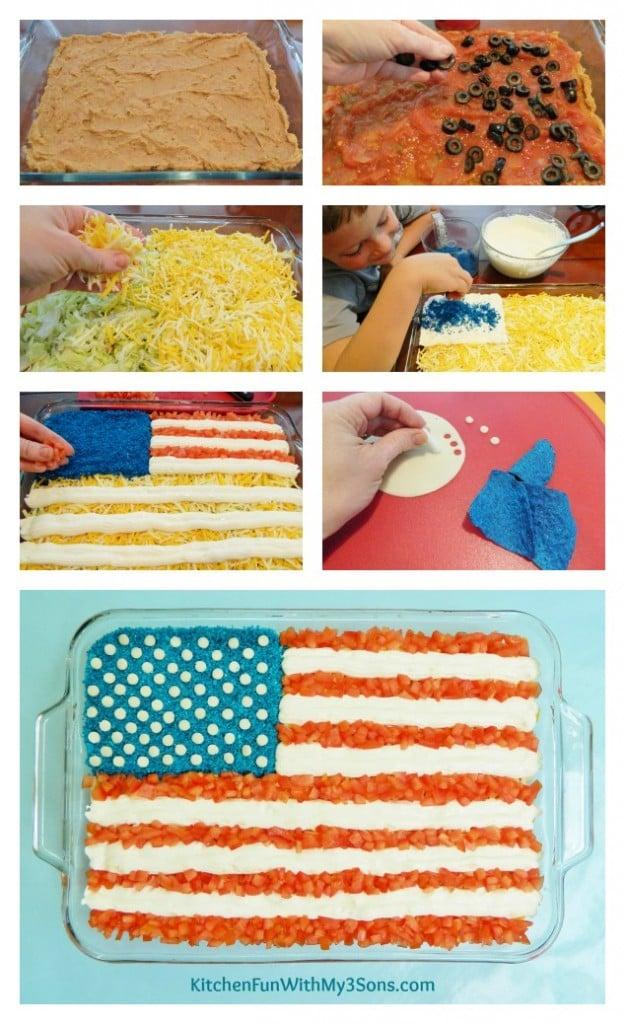 7 Layer Flag Patriotic Dip