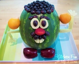 Mr Watermelon Head Kids Snack