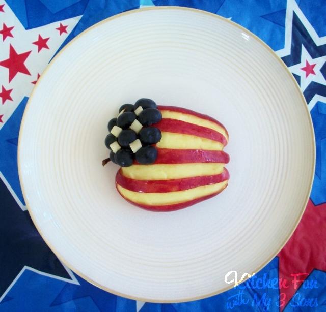 Patriotic Apple Flag Fruit Snack
