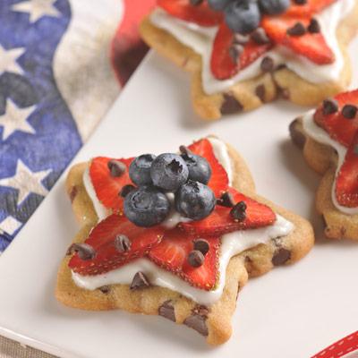 Patriotic Chocolate Chip Star Cookies