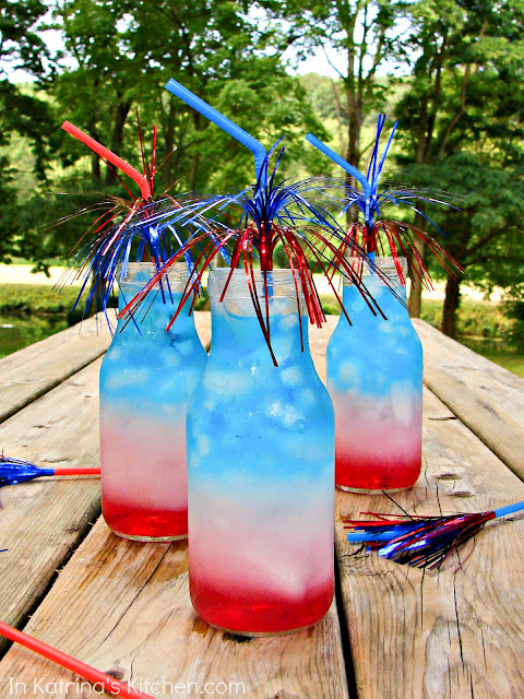 Patriotic Layered Drinks for July 4th!