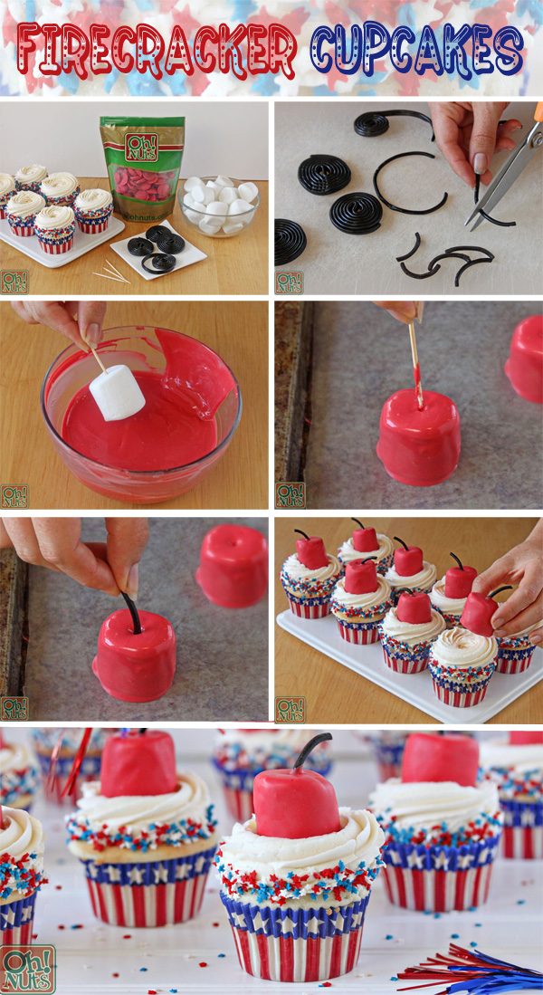Firecracker Cupcakes for July 4th!
