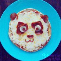 Panda Pepperoni Pita Pizza from KitchenFunWithMy3Sons.com